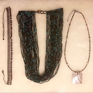 Jewelry - Assorted Beaded Necklaces 3 Pieces